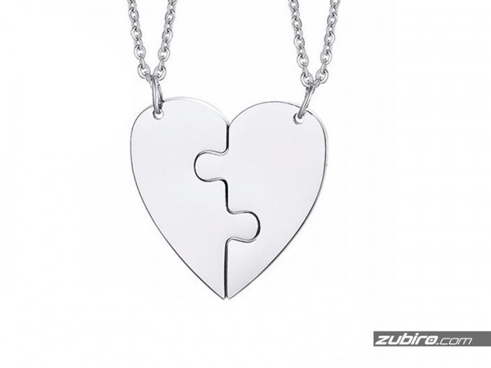 zawieszka serce puzzle