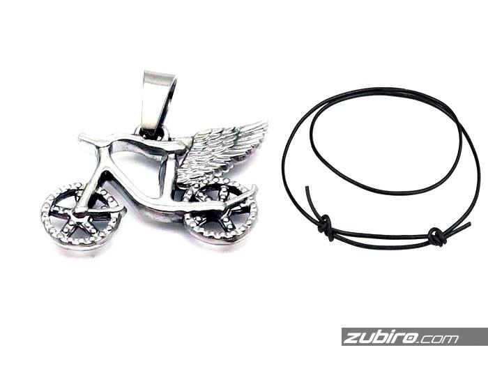 Rower zawieszka ze skrzydłami dla rowerzysty