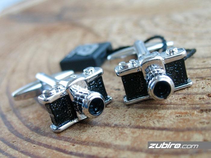 aparat fotograficzny spinki do mankietów