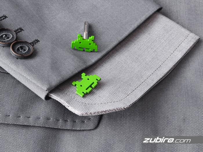 spinki do koszuli zielone