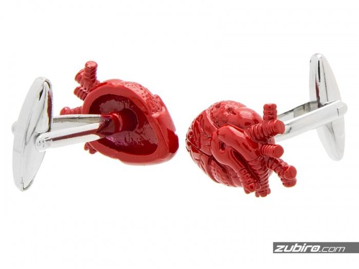 prezent na Walentynki spinki serca