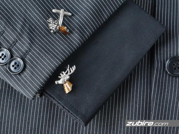 spinki do koszuli z jeleniami