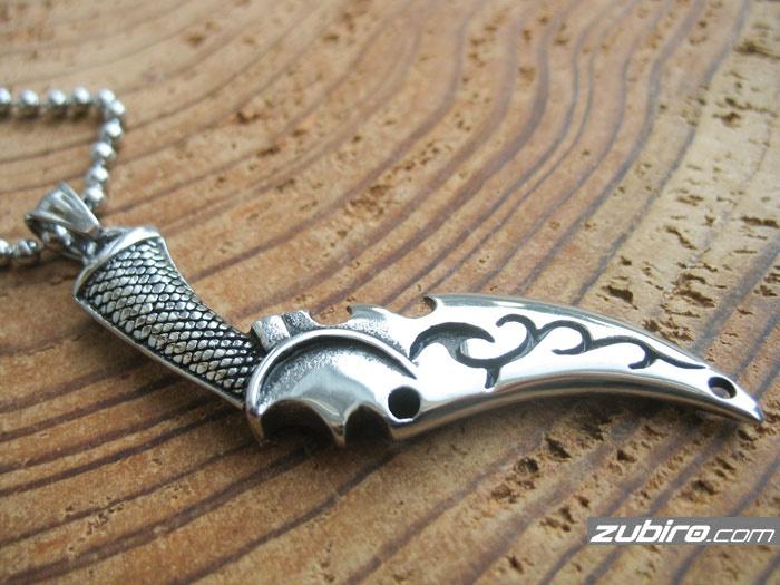 Sztylet nóż sierpowaty starodawny wisiorek