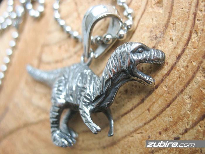 Zawieszka dinozaur ze stali jubilerskiej