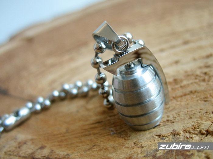 naszyjnik męski granat