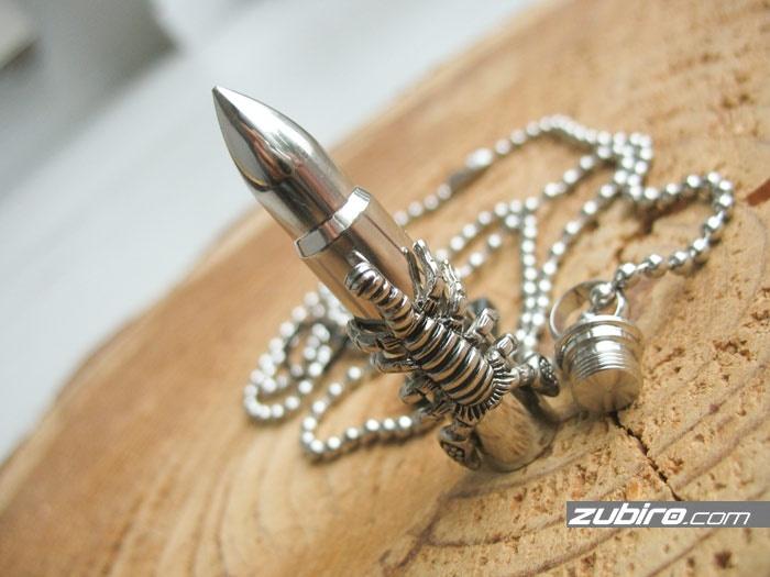 nabój męski skrytka ze skorpionem
