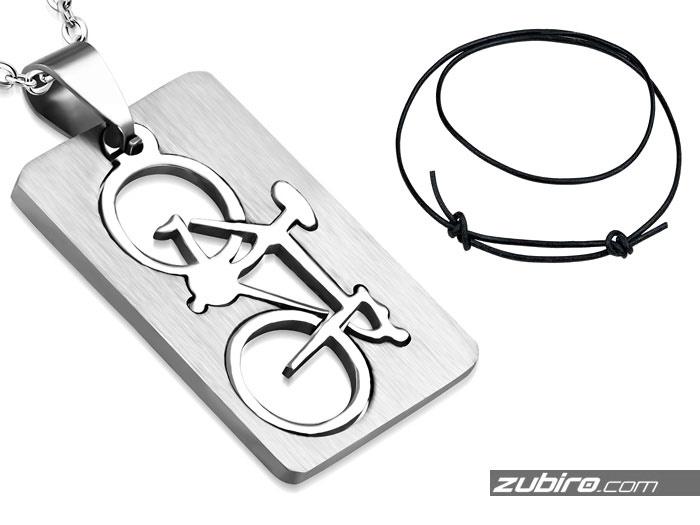 naszyjnik męski z rowerem