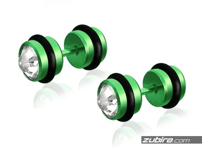 Zielone kolczyki męskie