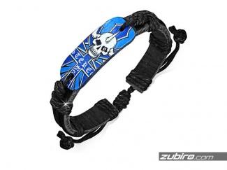 Bransoletka niebieska z czaszkami