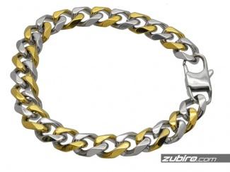Bransoletka pancerka złoto-srebrna