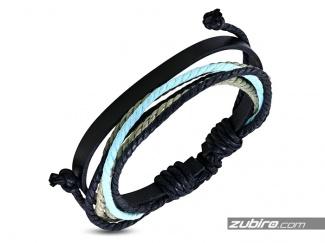 Bransoletka sznurkowa błękit