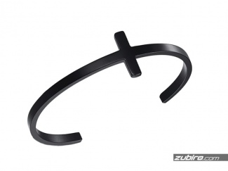Bransoletka w kształcie czarnego krzyża