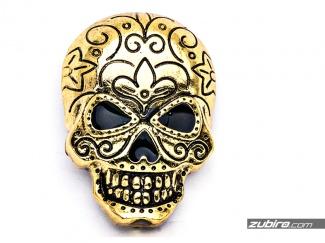 Broszka gigantyczna czaszka złota