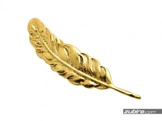Broszka męska w kształcie złotego liścia