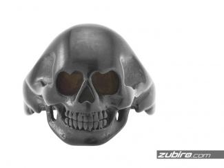Czarny sygnet czaszka