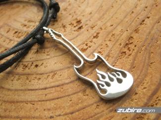 Gitara płomienie prezent dla gitarzysty