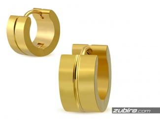 Klasyczne złote kolczyki męskie