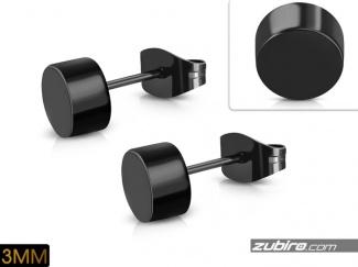 Kolczyki bardzo małe 3mm czarne