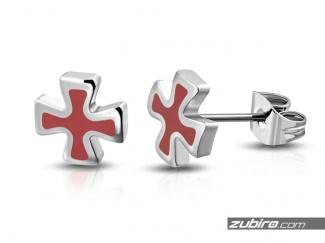 Kolczyki krzyże maltańskie