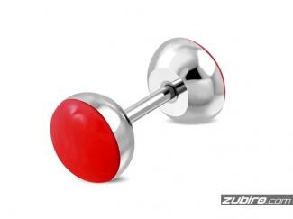 Kolczyki męskie czerwone - 1 sztuka