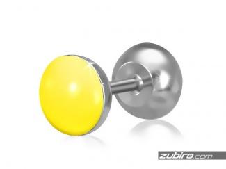 Kolczyki męskie żółte - 1 sztuka