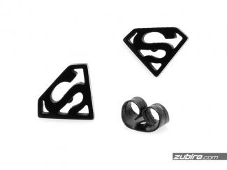 Kolczyki Superman czarne męskie