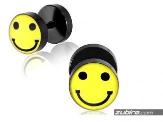 Kolczyki uśmiechnięta buźka - 1 sztuka