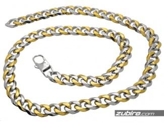 Łańcuch męski pancerka złoto-srebrna