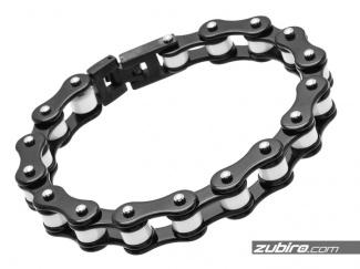 Łańcuch rowerowy męski czarno-biały