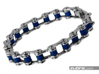 Łańcuch rowerowy niebieski