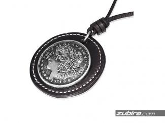 Medalion z monetą naszyjnik