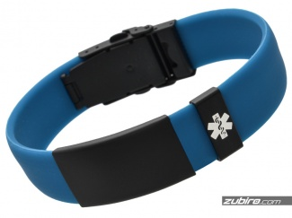 Męska biżuteria medyczna niebieska bransoletka