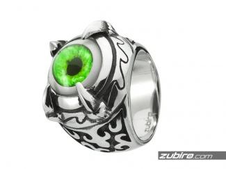 Męski pierścień oko