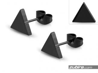 Męskie kolczyki trójkąty 9mm