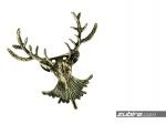 Broszka męska jeleń