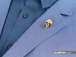 broszka męska czaszka