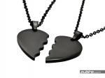 prezent dla kochanego czarne zawieszki serca