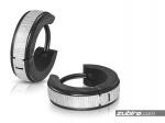 Kolczyki czarno-srebrne męskie okrągłe