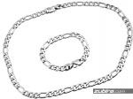 komplet biżuterii ze stali