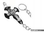 ozdobny łańcuch z krzyżem do portfela