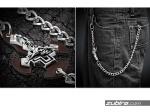 łańcuch do kluczy, zaczepy, metal