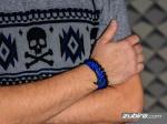bransoletki męskie z kotwicą niebieska