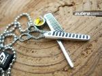 Nożyczki i grzebień prezent dla fryzjera