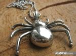 męskie zawieszki pająki na Halloween