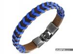 Skórzana niebieska bransoletka dla chłopaka