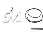 Wisiorki z literkami męskie duże M