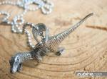 męska zawieszka z dinozaurem