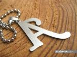naszyjnik z literką A