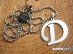naszyjnik z literką D