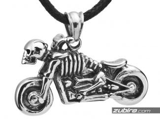 Motorcycle bones and skull